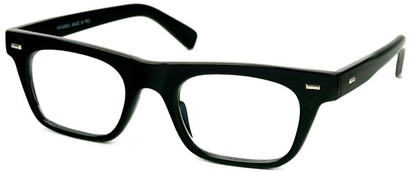 Angle of SW Clear Retro Style #2238 in Black Frame, Women's and Men's