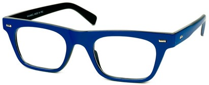 Angle of SW Clear Retro Style #2238 in Blue Frame, Women's and Men's