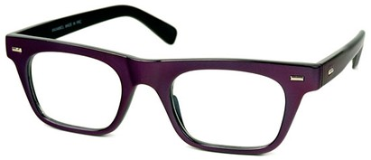 Angle of SW Clear Retro Style #2238 in Deep Purple Frame, Women's and Men's