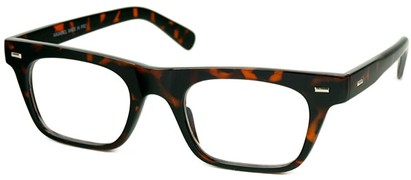 Angle of SW Clear Retro Style #2238 in Tortoise Frame, Women's and Men's