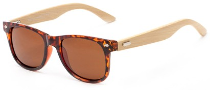 Angle of Mohawk #1462 in Tortoise Frame with Brown Lenses, Women's and Men's Retro Square Sunglasses