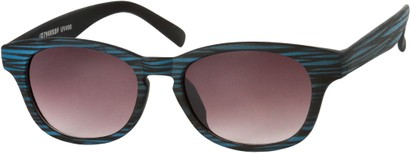 Angle of Murray #7969 in Blue, Women's and Men's Retro Square Reading Sunglasses