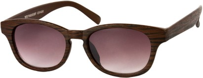 Angle of Murray #7969 in Brown, Women's and Men's Retro Square Reading Sunglasses