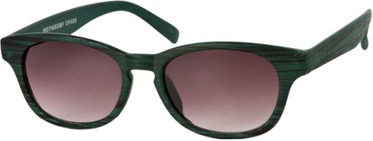 Angle of Murray #7969 in Green, Women's and Men's Retro Square Reading Sunglasses