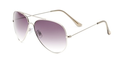 Angle of Watershed #9622 in Silver/Grey Frame with Smoke Lenses, Women's and Men's Aviator Sunglasses