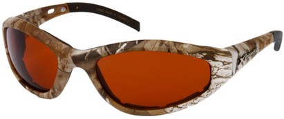 Angle of SW X Power Padded Sport Style #1716 in Brown Frame with Copper Lenses, Women's and Men's