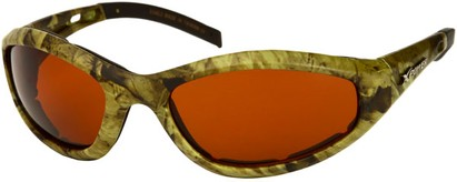 Angle of SW X Power Padded Sport Style #1716 in Green Frame with Copper Lenses, Women's and Men's