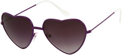 Angle of SW Celebrity Heart Style #1971 in Purple Frame, Women's and Men's