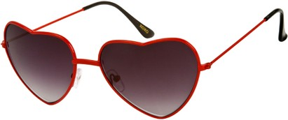Angle of SW Celebrity Heart Style #1971 in Red Frame, Women's and Men's