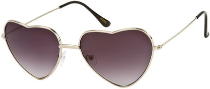 Angle of SW Celebrity Heart Style #1971 in Silver Frame, Women's and Men's