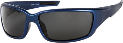 Angle of SW Polarized Style #1860 in Glossy Blue Frame with Smoke Lenses, Women's and Men's