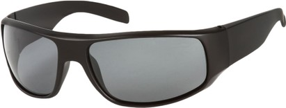 Angle of SW Polarized Style #1865 in Matte Black Frame with Smoke Lenses, Women's and Men's
