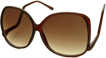 Angle of SW Oversized Style #1216 in Clear Brown Frame, Women's and Men's