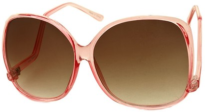 Angle of SW Oversized Style #1216 in Clear Pink Frame, Women's and Men's