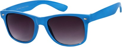 Angle of Bayou #494 in Blue Frame, Women's and Men's Retro Square Sunglasses