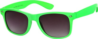 Angle of Bayou #494 in Lime Green Frame, Women's and Men's Retro Square Sunglasses