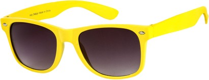 Angle of Bayou #494 in Yellow Frame, Women's and Men's Retro Square Sunglasses