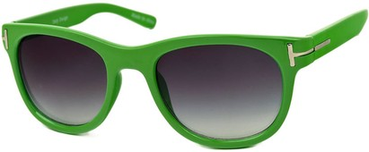 Angle of SW Retro Style #791 in Lime Green Frame, Women's and Men's