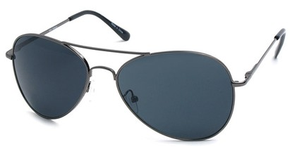 Angle of SW Aviator Style #2456 in Grey Frame, Women's and Men's