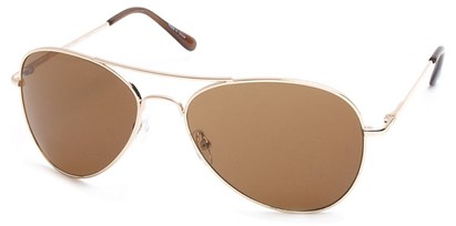 Angle of SW Aviator Style #2456 in Gold Frame, Women's and Men's