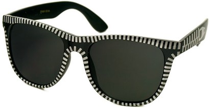 Angle of SW Retro Zipper Style #273 in Black and Silver Frame, Women's and Men's