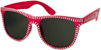 Angle of SW Retro Zipper Style #273 in Hot Pink and Silver Frame, Women's and Men's