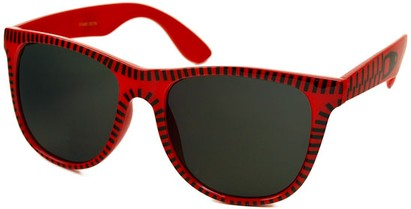 Angle of SW Retro Zipper Style #273 in Red and Black Frame, Women's and Men's