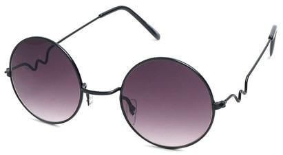 Angle of SW Round Style #9430 in Black Frame, Women's and Men's