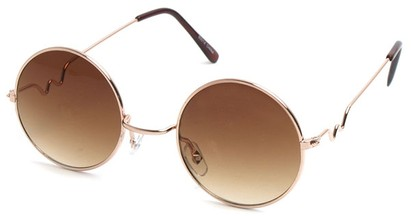 Angle of SW Round Style #9430 in Gold Frame, Women's and Men's