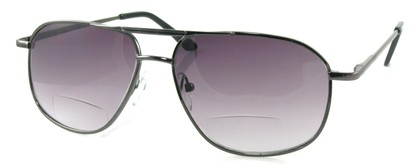 Angle of Flight #9952 in Gray Frame, Women's and Men's Aviator Reading Sunglasses