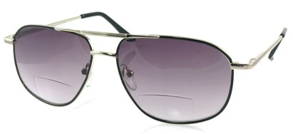 Angle of Flight #9952 in Silver Frame, Women's and Men's Aviator Reading Sunglasses